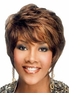 Cut Style Human Hair Pixie African American Wig