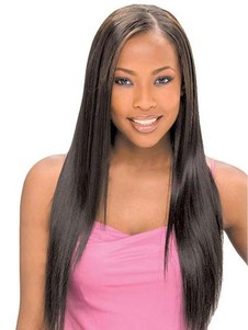 Straight Long Lace Front Natural African American Wig