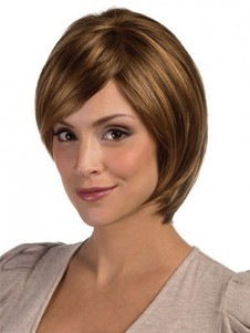 Length Red Bob Style Graduated Layemedium Wig