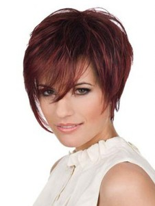 Lace Front Layers Straight Short Cut Wonderful Human Hair Wig