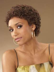 Curly Short Classic Capless African American Wig
