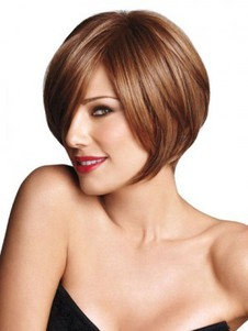 Synthetic Bob Style Short Angled Wig
