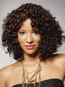 Chic Lace Front Synthetic Curly Wig