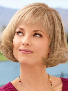 Synthetic Mid-bob Style Length Lace Front Wig
