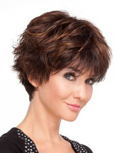 Human Hair Short Full Lace Wig For Woman