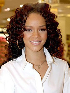Rihanna Perfect Curly Synthetice Lace Front Wig