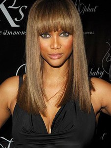 Tyra Banks Perfect Long Straight Remy Hair Full Lace Wig