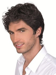 Mono Top Mens Remy Human Hair Full Lace Mens Wig