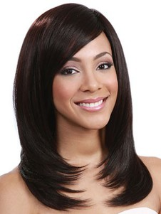 Synthetic Straight Length Medium Lace Front Wig
