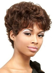 100% Wavy Remy Human Hair African American Wig