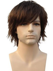 Human Hair Straight Attractive Capless Wig