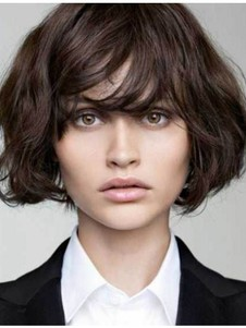 Brown Most Popular Short Remy Human Hair Wig