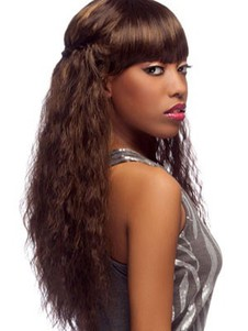Long Lace Front Remy Hair Curly African American Wig