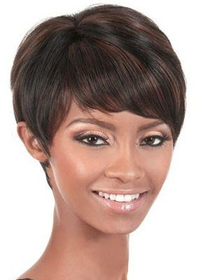 Capless Straight Attractive Short Human Hair Wig - Image 1