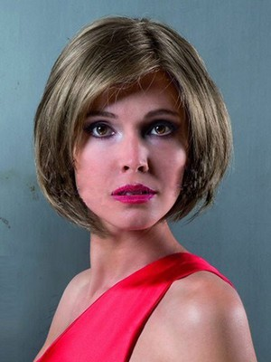 Fashionable Remy Human Hair Length Chin Bob Style Wig - Image 1