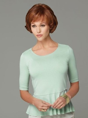 Red Good Short Synthetic Wig - Image 2