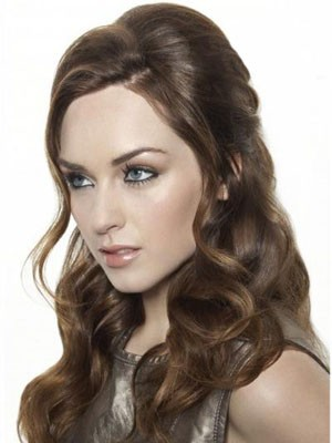 Synthetic Long Wavy Fashionable Lace Front Wig - Image 1
