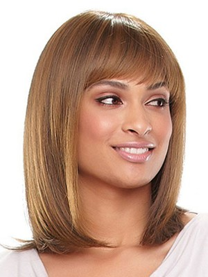 Synthetic Silky Straight Long African American Wig - Image 2