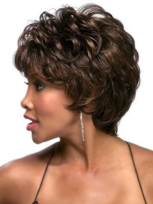 Wavy Short Synthetic Graceful African American Wig - Image 2