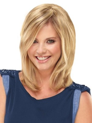 Blonde Charming Capless Straight Human Hair Wig - Image 1