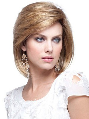 Fashion Straight Short Human Hair Bob Wig - Image 1