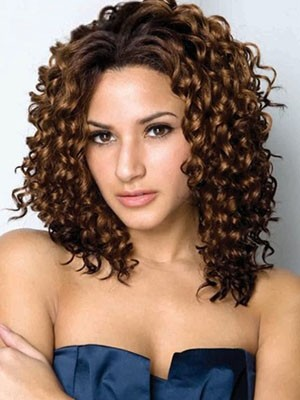 Curly Synthetic Pretty Lace Front Wig - Image 1