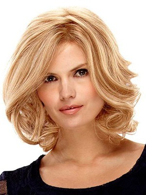 Medium Nice Lace Front With Mono Wavy Wig For Woman  - Image 1