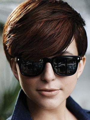 Fashionable Straight Capless Short Human Hair Wig - Image 1