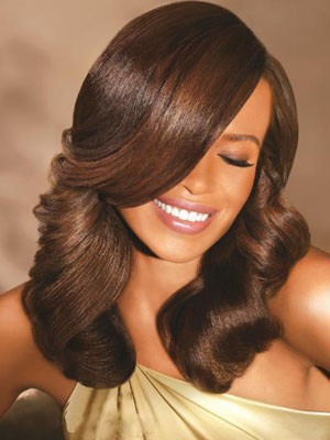 Lace Front Wavy Dazzling Synthetic Wig - Image 1