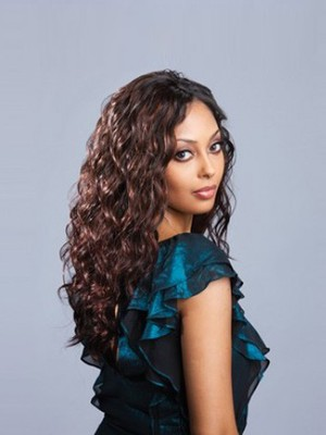 Long Human Hair Lace Front Wavy African American Wig - Image 2