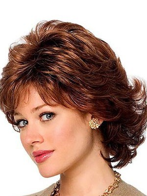 Capless Human Hair Wonderful Wavy Wig - Image 1
