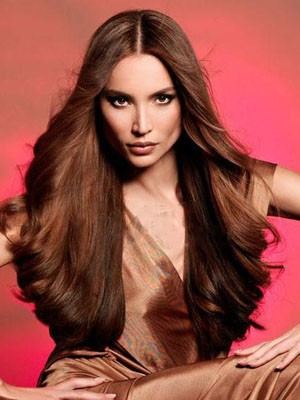 Wavy Long Fashionable Human Hair Full Lace Wig - Image 1
