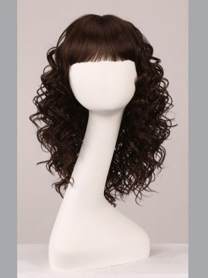 Capless 16 Inch Beautiful Wavy Comfortable Wig - Image 2