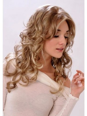 Classic Long Wavy Blonde Monofilament Wig - Image 2