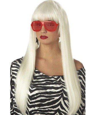Lady Gaga Capless Long Straight Celebrity Wig - Image 1