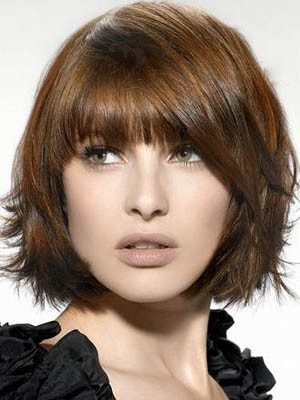 Romantic Straight Medium Lace Front Synthetic Wig - Image 1