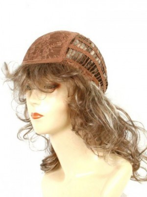 Popular Medium Human Hair Capless African American Wig With Bangs  - Image 4