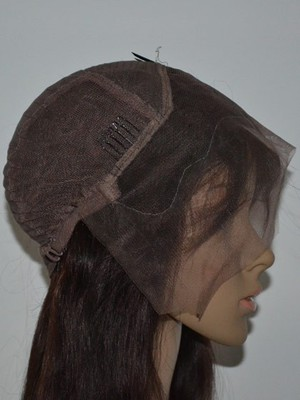 Lace Front Straight Remy Human Hair African American Wig - Image 2