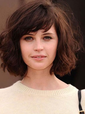 Wavy Length Attractive Capless Medium Human Hair Wig - Image 1