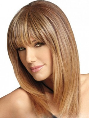 Human Hair Straight Smooth Lace Front Wig - Image 1