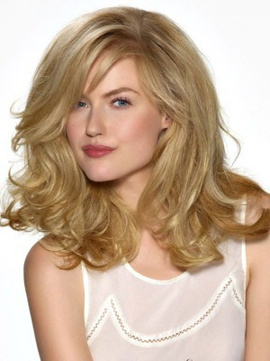 Long Fashionable Synthetic Lace Front Wig - Image 1