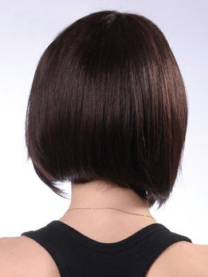 Short Polished Nice Smooth Straight Human Hair Wig - Image 2