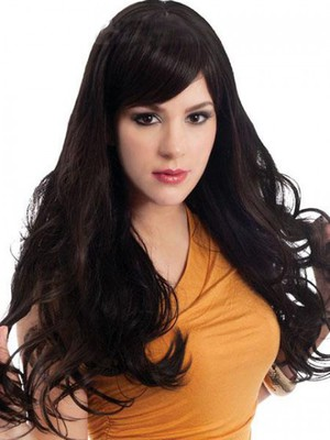 Natural Wavy Human Hair Capless Wig - Image 2