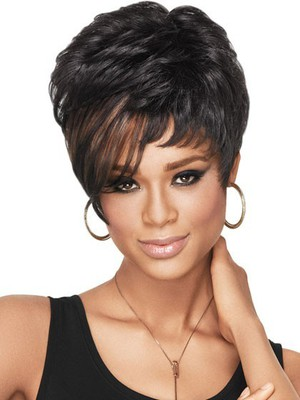 Synthetic Dramatic Tomboy Chic African American Wig - Image 1