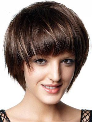 Short Synthetic Capless Straight Wig - Image 1