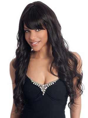 Wavy Synthetic Long Style Stylish African American Wig - Image 1