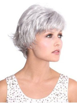 Straight Looking Lace Front Good Mono Top Synthetic Wig - Image 2