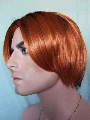 Sketchy Straight Lace Front Synthetic Short Mens Wig - Image 3