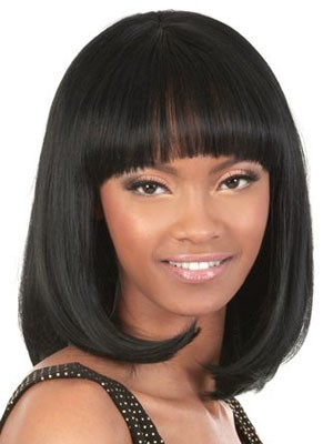Medium Length Capless Wonderful Human Hair Wig - Image 1