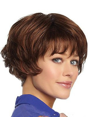 Nice-looking Wavy Human Hair Capless Wig - Image 2